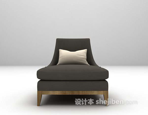 布艺休闲椅3d模型下载