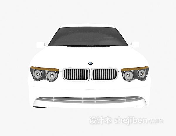 白色车的模型
