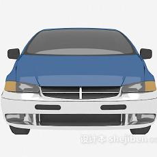 蓝色的车辆3d模型下载