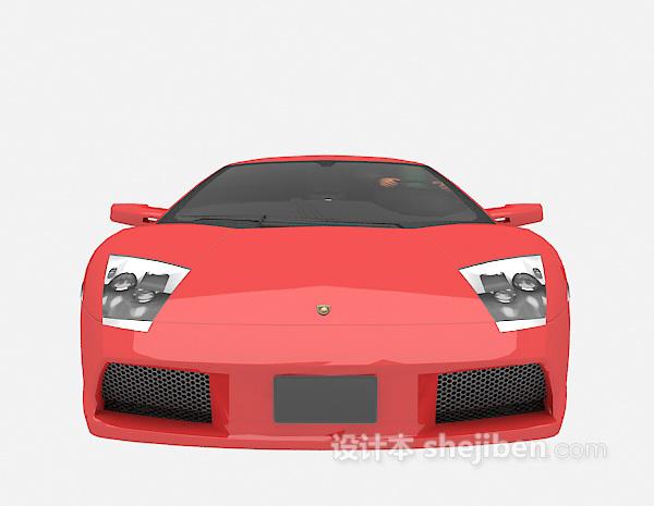 红色跑车模型3d模型下载