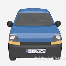 蓝色车的3d模型下载