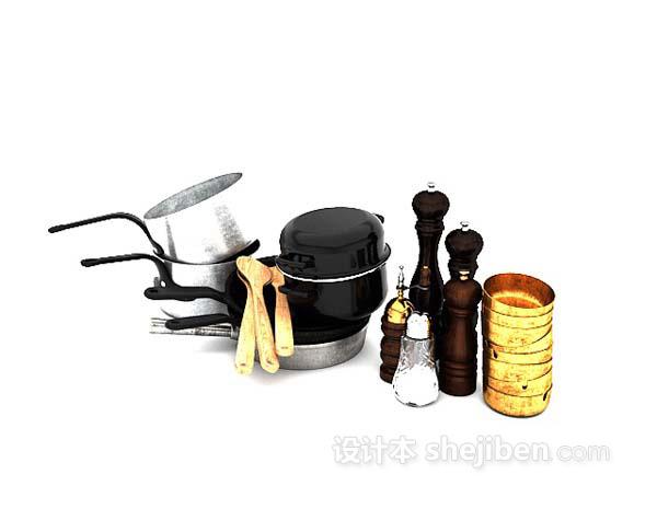 厨房用品摆件3d模型下载