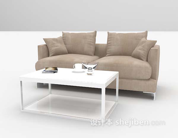 茶几沙发3d模型下载