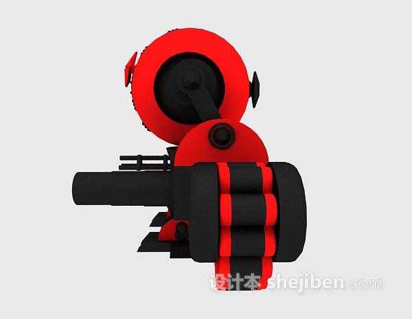 冲锋枪玩具3d模型下载