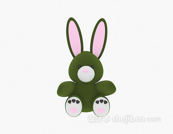 儿童玩具模型兔子3d模型下载