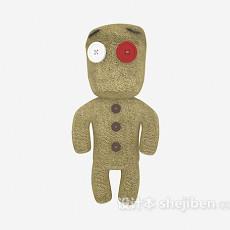 儿童玩具木头人3d模型下载