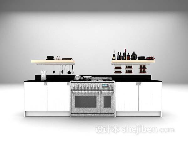 灰色现代橱柜模型下载
