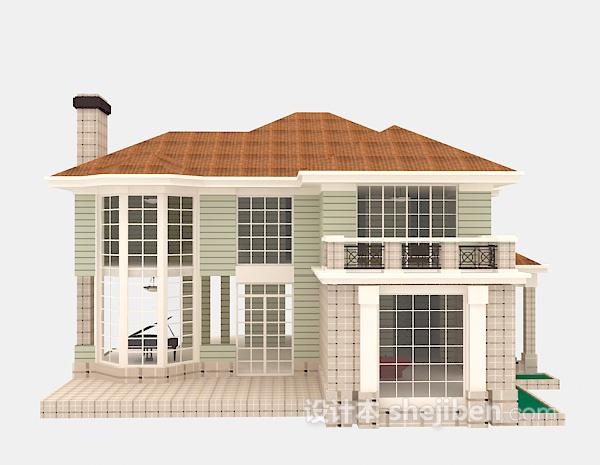 欧式典雅别墅3d模型下载