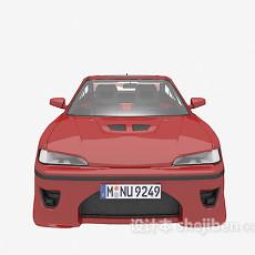 红色小车max汽车3d模型下载