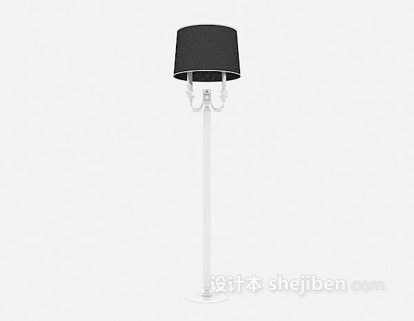 黑色欧式落地灯3d模型下载