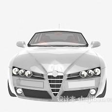 白色汽车3d模型下载