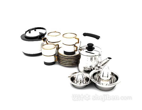 厨房杯碟3d模型下载
