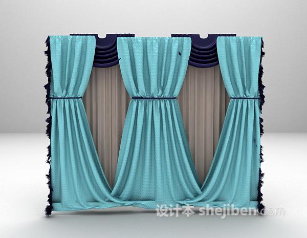 欧式窗帘3d模型下载