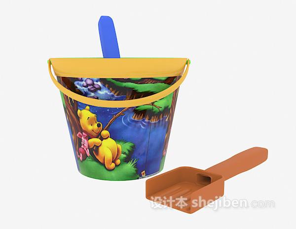 儿童沙滩玩具模型 3d模型下载