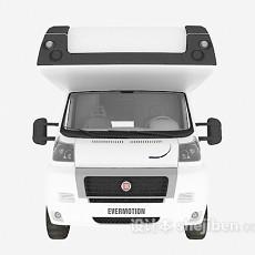 白色卡车3d模型下载
