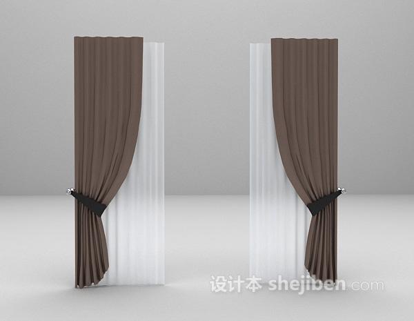 现代装饰窗帘3d模型下载