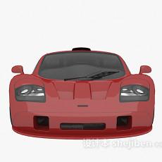 红色跑车汽车3d模型下载