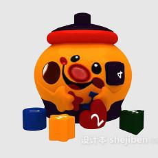 儿童玩具存钱罐 3d模型下载