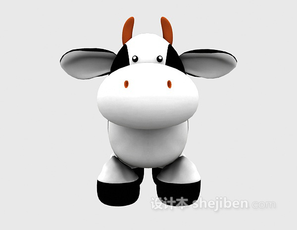 儿童模型玩具大奶牛3d模型下载