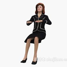 工作状态的女性3d模型下载
