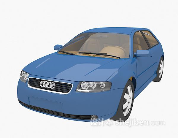 蓝色小车3d模型下载