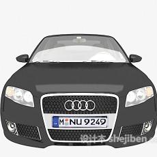 黑色奥迪汽车3d模型下载