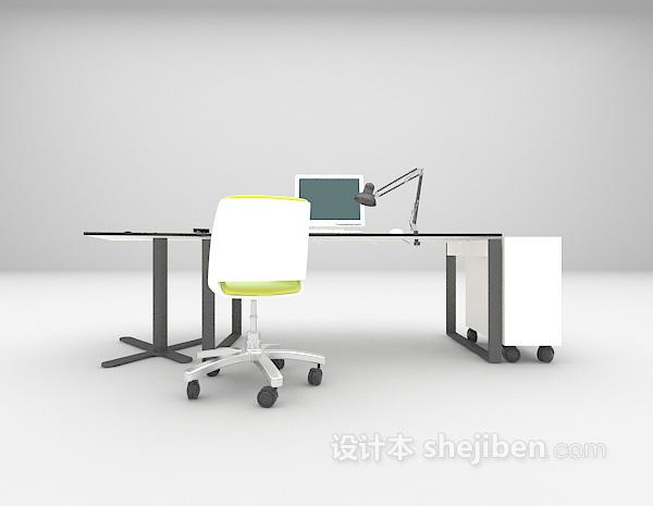 电脑办公桌3d模型下载
