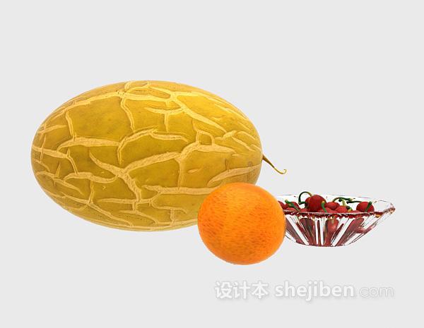 哈密瓜水果3d模型下载
