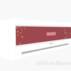 粉色空调3d模型下载