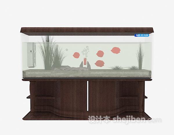 欧式鱼缸3d模型下载