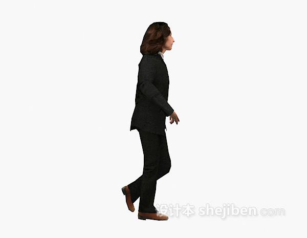 职业装人物3d模型下载