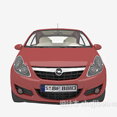 红色的汽车免费3d模型下载