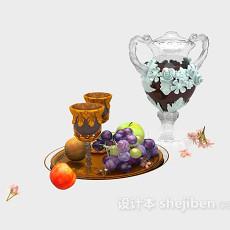 欧式雕花陶瓷摆件3d模型下载