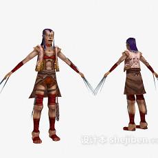 游戏中的人物3d模型下载