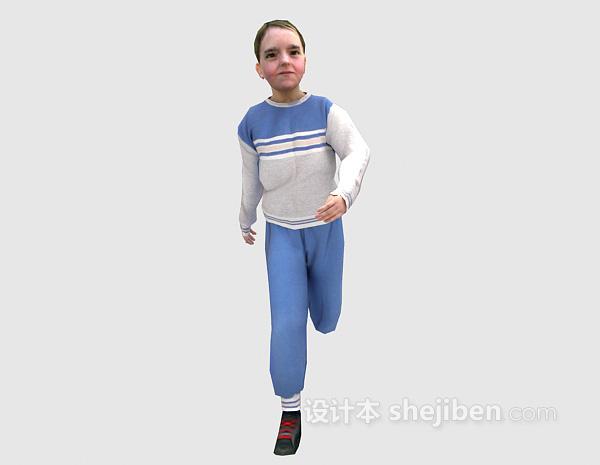 跑步中的女人3d模型下载