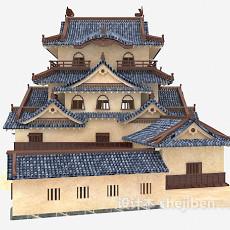 中式古建3d模型下载