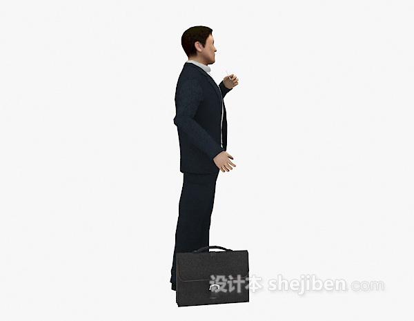 西装商业男士3d模型下载