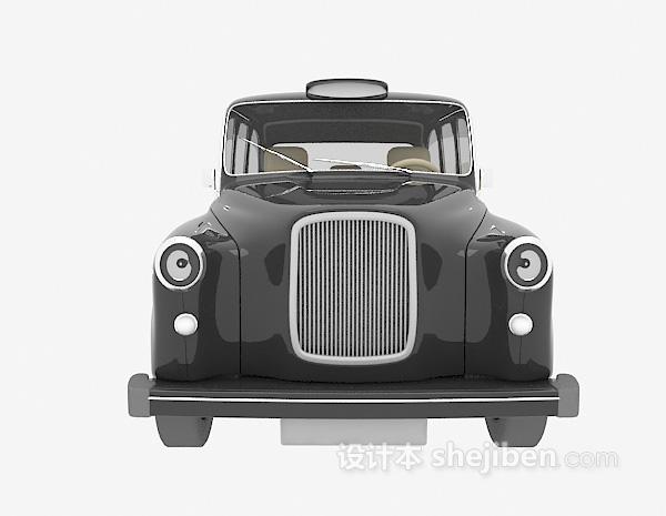 黑色车模型3d下载