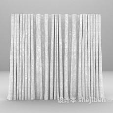 简约窗帘max窗帘3d模型下载