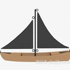 小帆船3d模型下载
