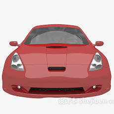 红色车3d模型下载