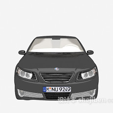 黑色的汽车3d模型下载