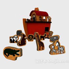 儿童玩具木块3d模型下载