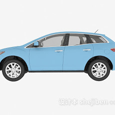蓝色车辆免费3d模型下载