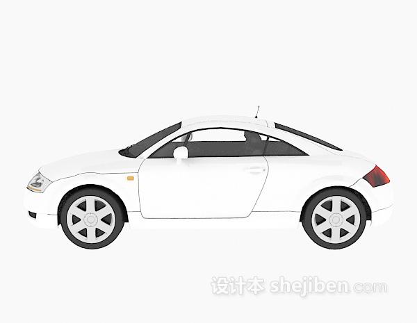 白色车辆模型3d模型下载