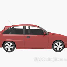 红色车的免费3d模型下载