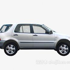 银色汽车车3d模型下载