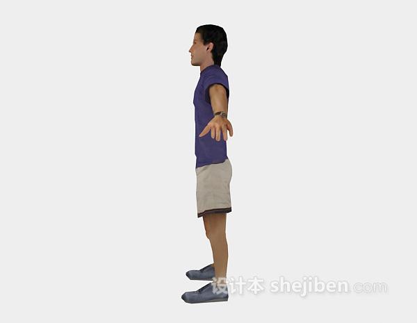 青年人3d人物模型下载