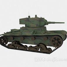 武器坦克3d模型下载
