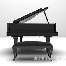 金属材料钢琴3d模型下载
